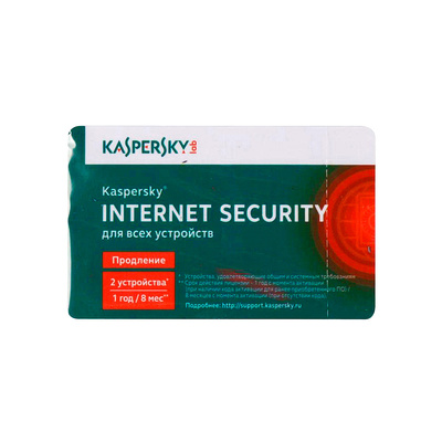 Продление антивируса Kaspersky Internet Security Multi-Device Russian Edition. 2-Desktop 1 year Renewal Card
