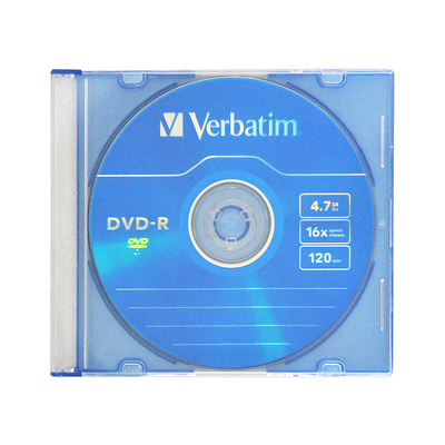 Диск/Verbatim/DVD-R/4.7Gb 16x/Slim Case/1шт