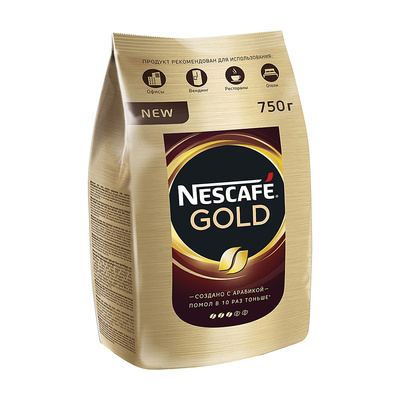 "Кофе/растворимый/Nescafe/""Gold""/750г/в пакете"